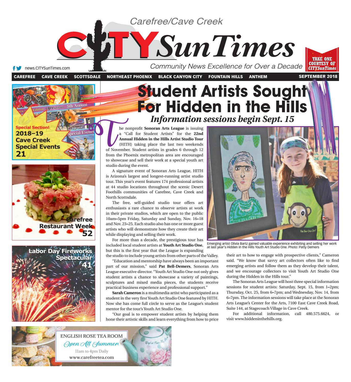 Carefree/Cave Creek CITYSunTimes September 2018 Issue by