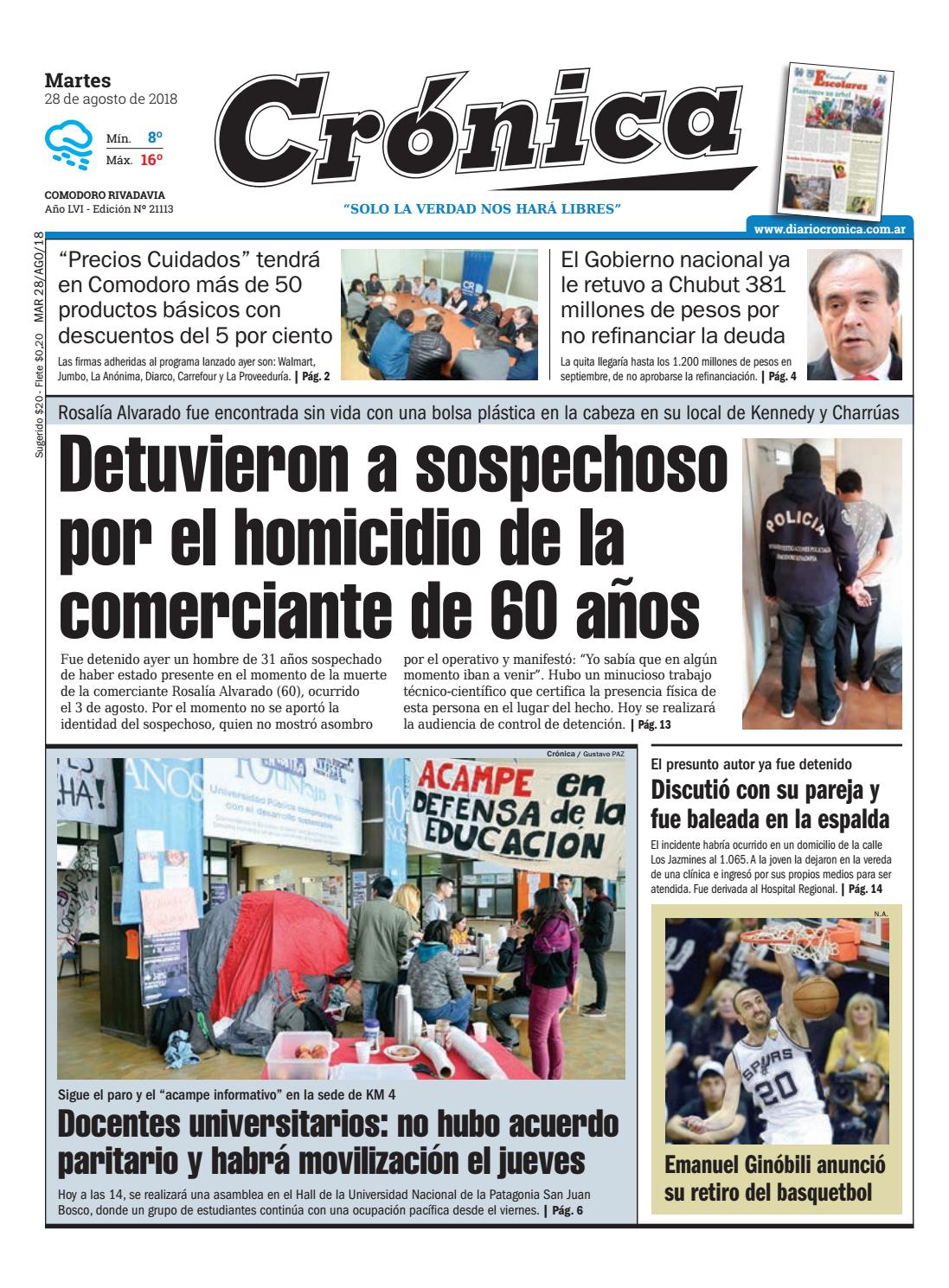 Diario cronica 28 08 2018 by Diario Crónica - issuu