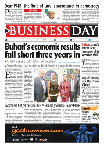 BusinessDay 28 Aug 2018 by BusinessDay - issuu