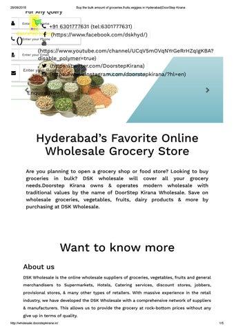 Buy the bulk amount of groceries,fruits,veggies in Hyderabad