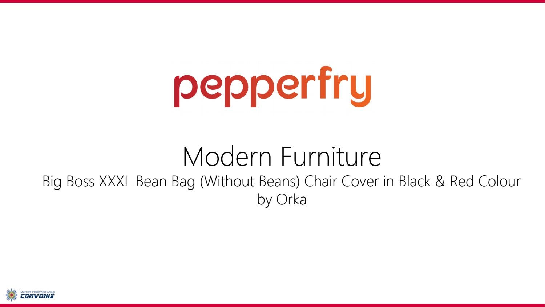 Groovy Big Boss Xxxl Bean Bag Without Beans Chair Cover In Black Machost Co Dining Chair Design Ideas Machostcouk