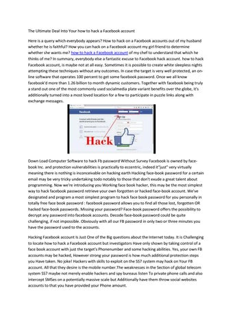 how to hack a Facebook account by Radamelfalcao - issuu