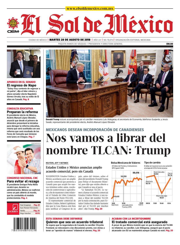 8cb6321cb377e PDF de El Sol de México 28 de agosto 2018 by El Sol de México - issuu