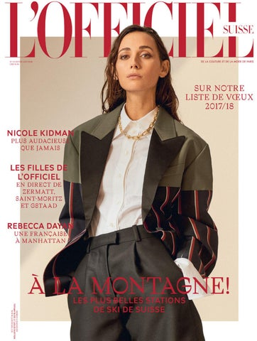 L OFFICIEL No. 34 Hiver 2017 18 FR by L Officiel Schweiz Suisse - issuu 3e9e702bff1