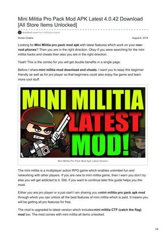 mini militia unlocked apk