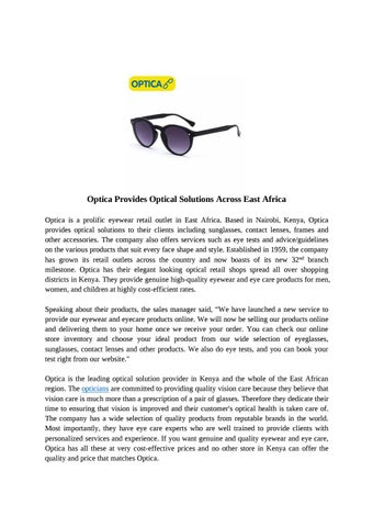 Optica Provides Optical Solutions Across East Africa bb8b613af8