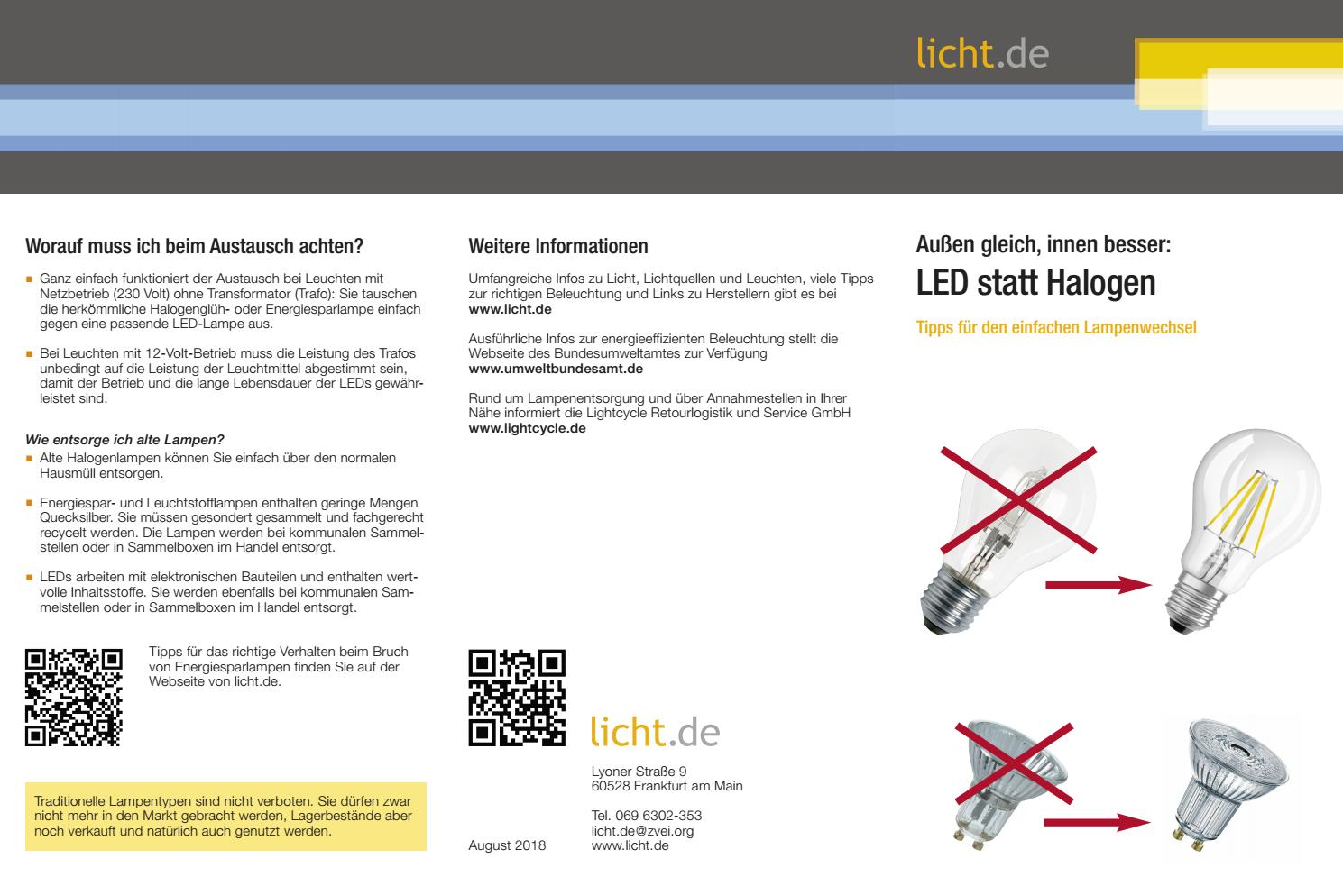 Flyer Led Statt Halogen By Licht De Issuu