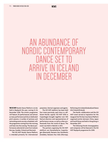 Page 4 of Nordic Contemporary dance gathers in Iceland / ICE HOT