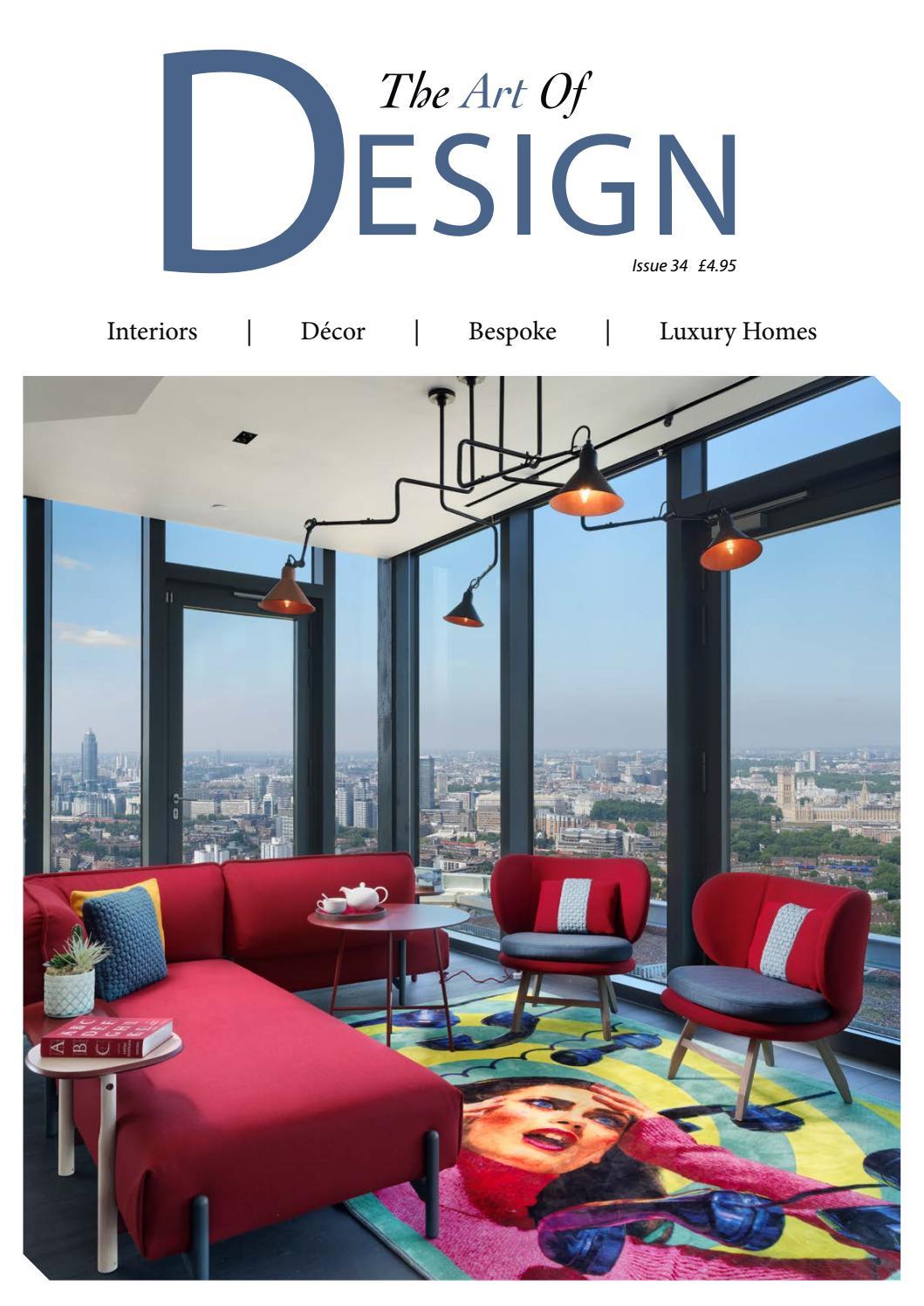 Modern Design Geometric Circular Saw Design Blue Gold Shine Upholstery Fabric