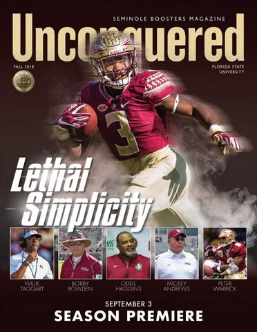 Unconquered magazine (USPS 18182) is published quarterly by Seminole  Boosters 4b298eb9b