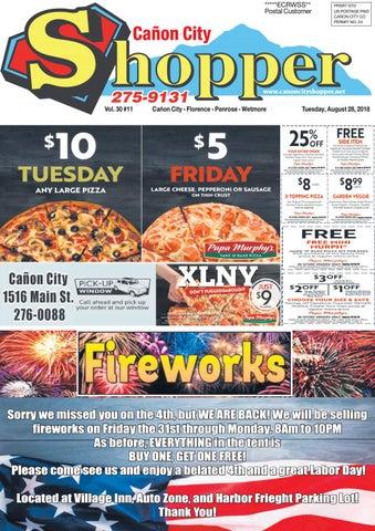 Cañon City Shopper ~ August 28, 2018 by Prairie Mountain Media - issuu