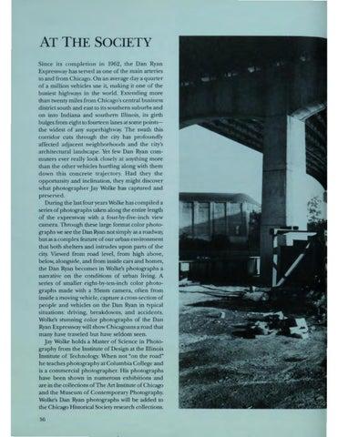 """Page 58 of At the Society: """"The Dan Ryan Expressway"""""""
