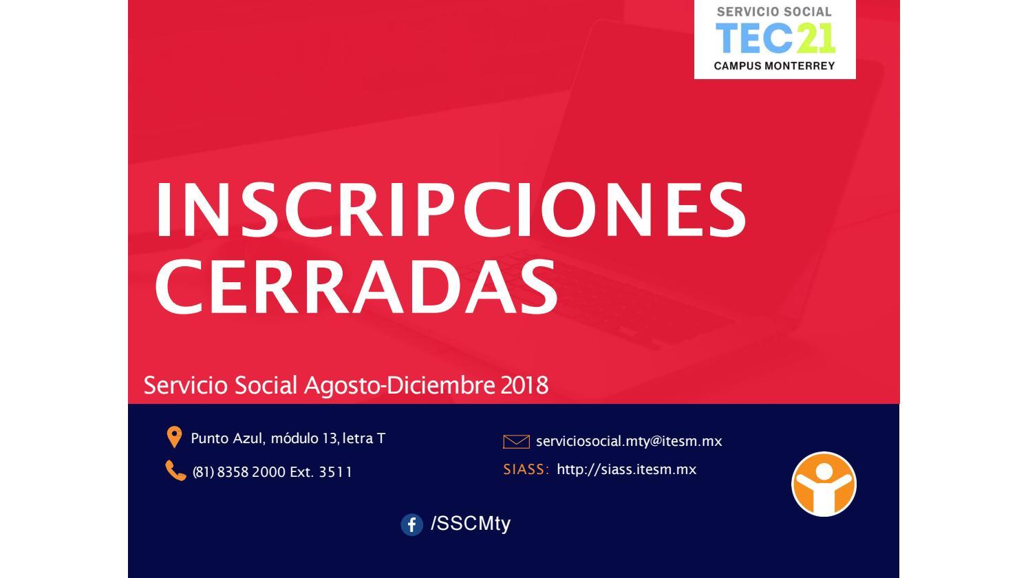 Catálogo proyectos SS semestre AD18 by servicio social campus mty - issuu b82ead0a88e