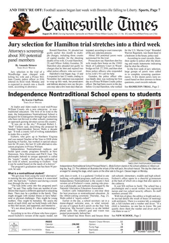 Gainesville / Prince William Times August 29, 2018 by