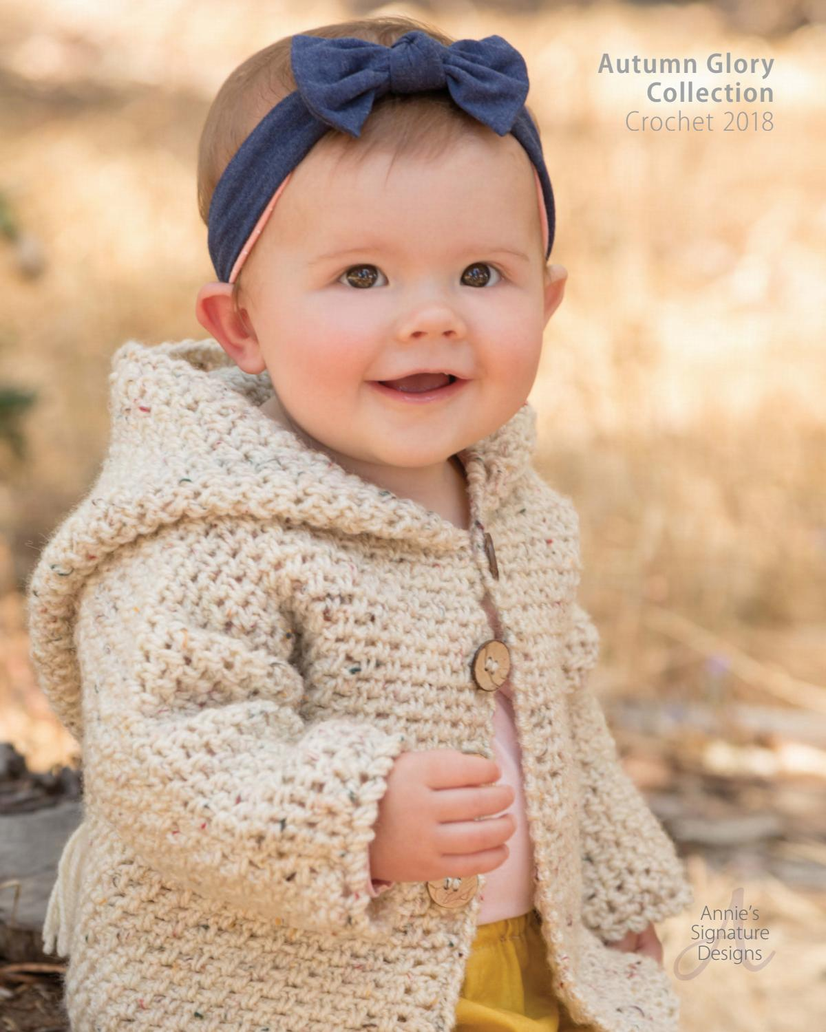 55e3440c31ba Annie s Autumn Glory Crochet Lookbook Baby Collection 2018 by ...