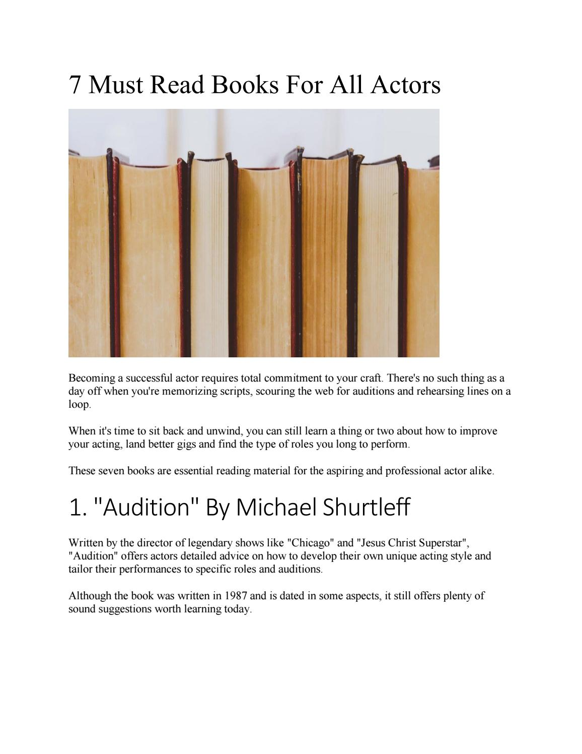 7 Must Read Books For All Actors by Logan Sekulow - issuu