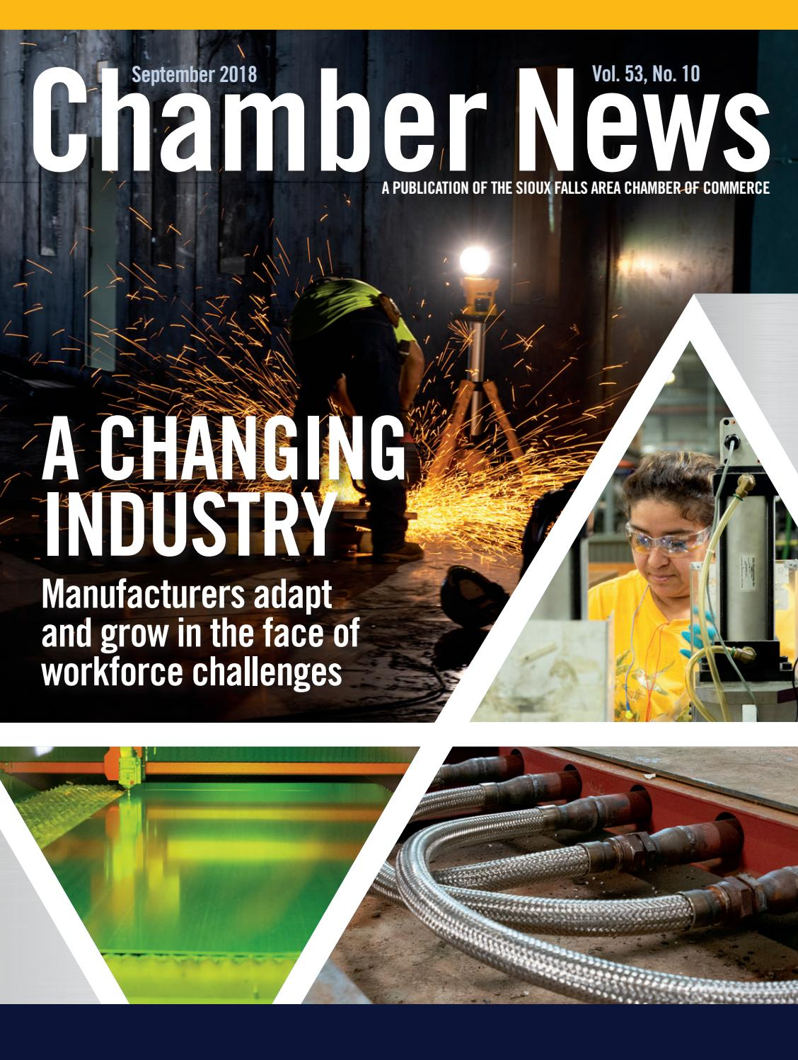 September 2018 Chamber News by Sioux Falls Area Chamber of Commerce