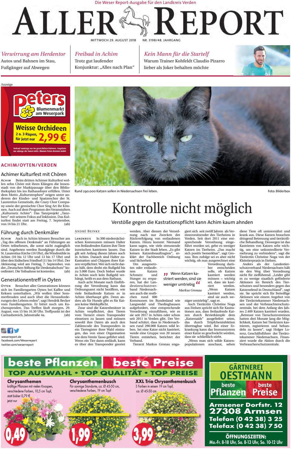 Aller Report vom 29.08.2018 by KPS Verlagsgesellschaft mbH - issuu