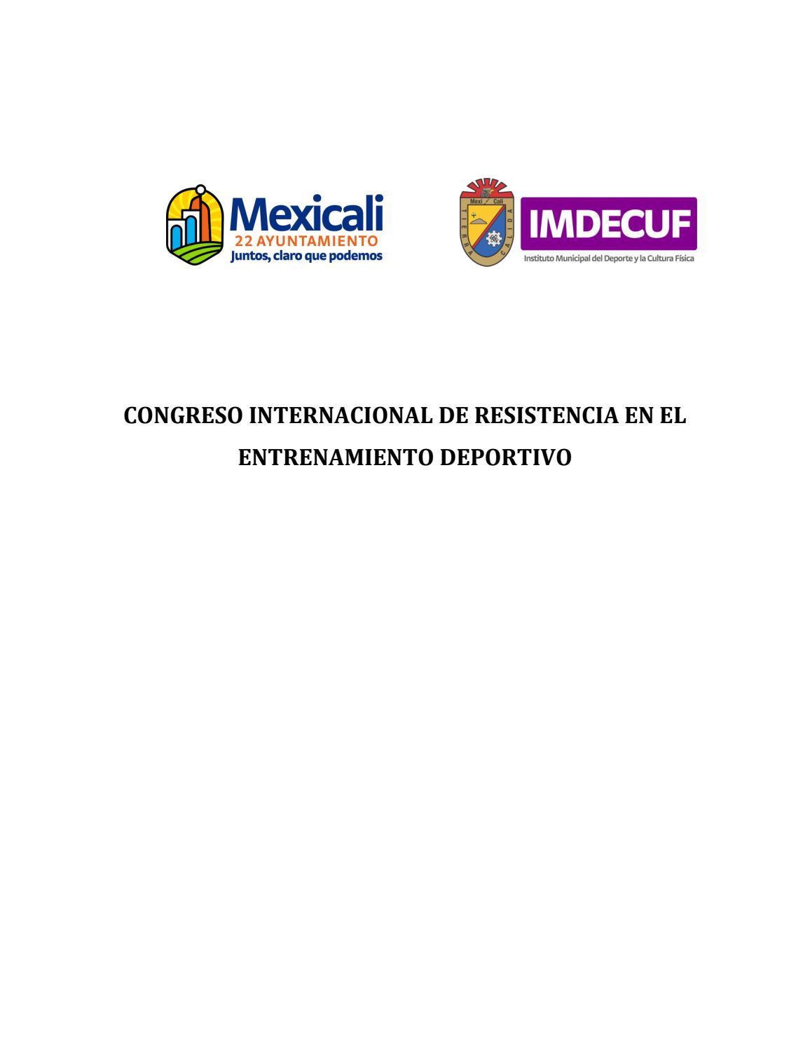 Congreso Internacional de Resistencia en el Entrenamiento