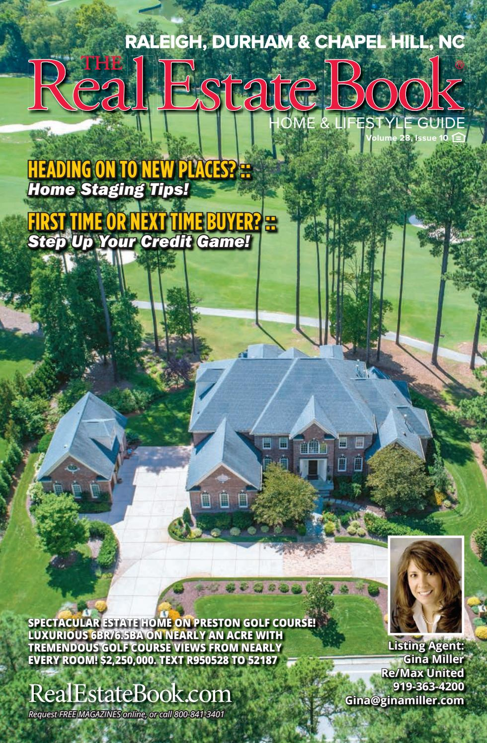 The Real Estate Book of The Triangle Volume 28 Issue 10 by