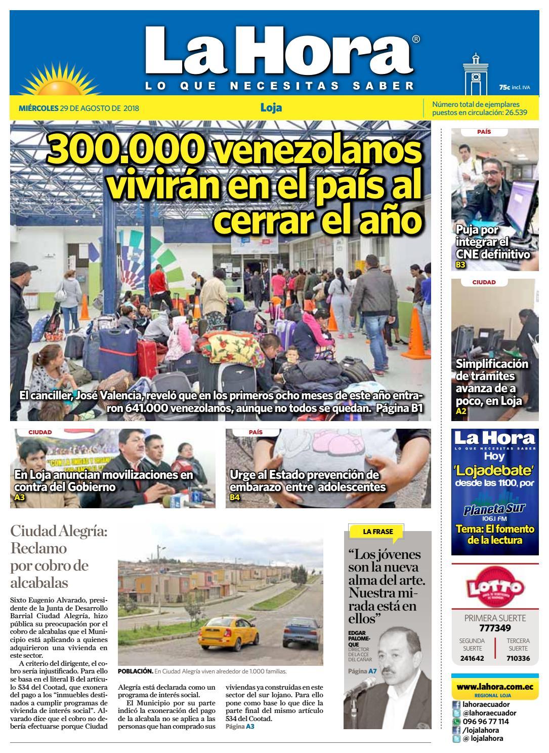 2f27eff7e44 Diario La Hora Loja 29 de Agosto 2018 by Diario La Hora Ecuador - issuu