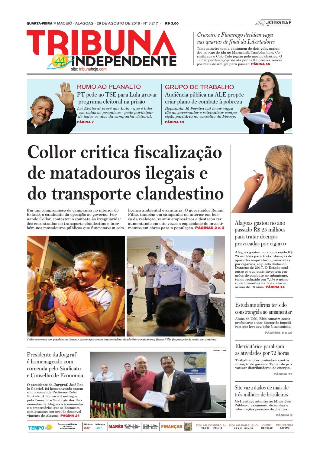 942e885e9 Edição número 3217 - 29 de agosto de 2018 by Tribuna Hoje - issuu