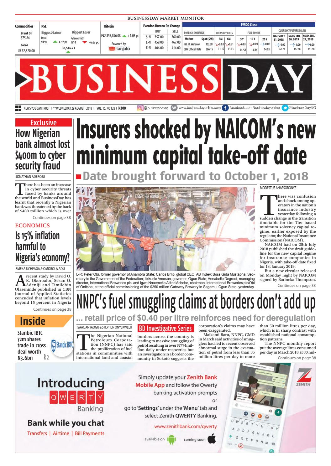 Businessday 29 Aug 2018 By Issuu Sagha Ultimate Oil Samo