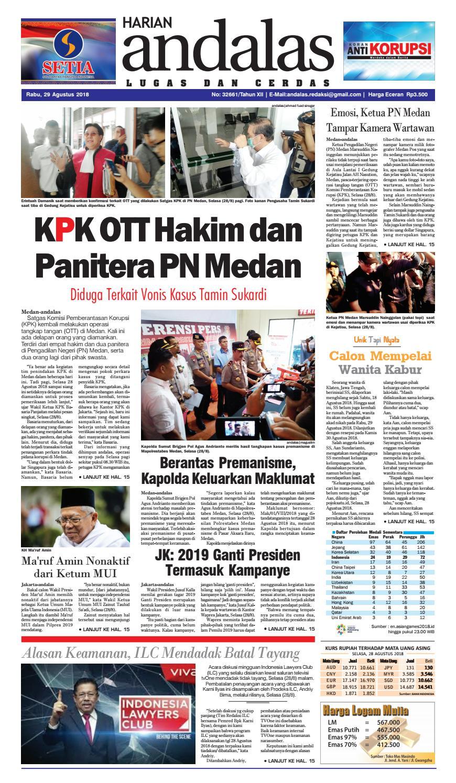 Epaper Andalas Edisi Rabu 29 Agustus 2018 By Media Issuu All New Cb 150r Streetfire Raptor Black Klaten