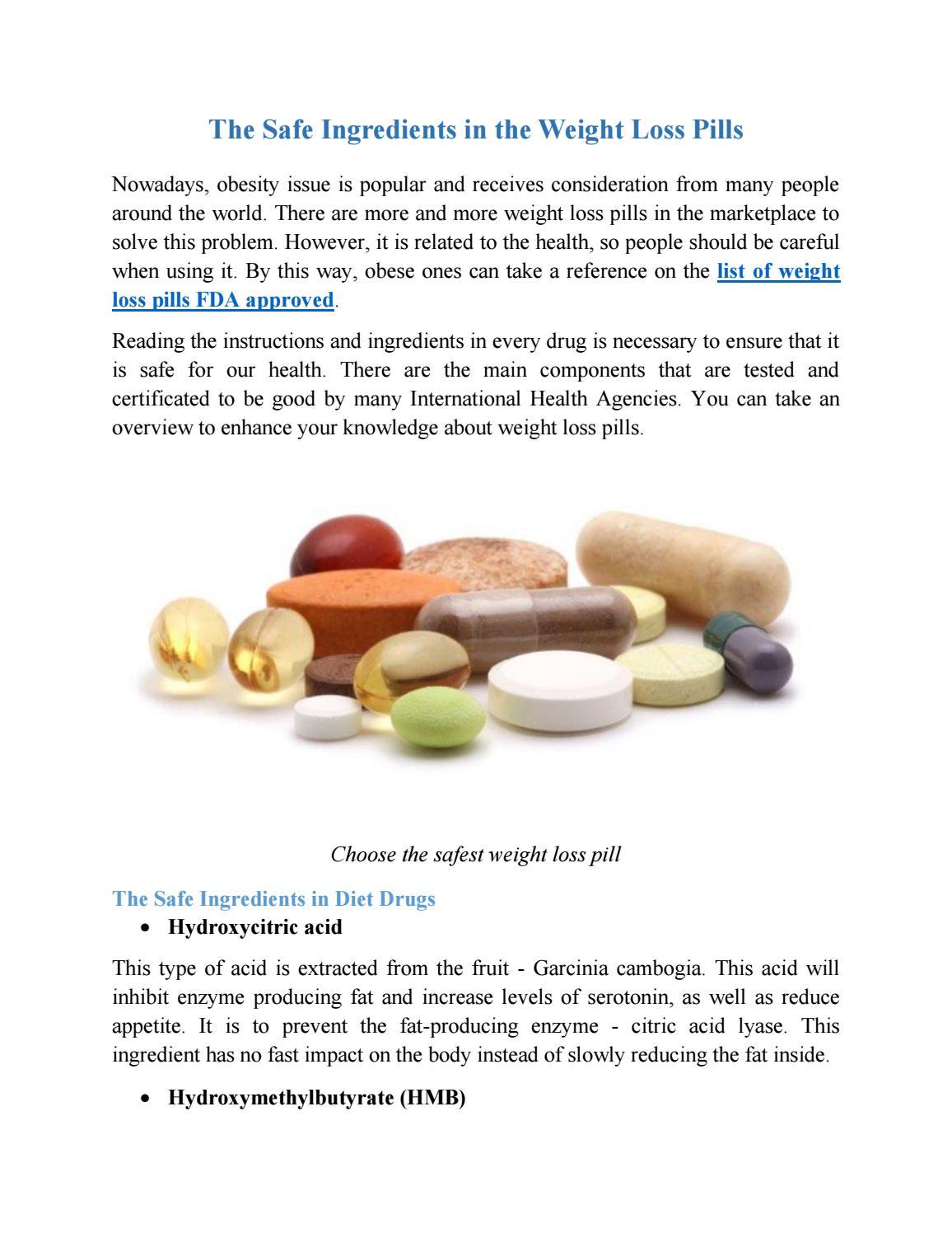 safest weight loss pills that work