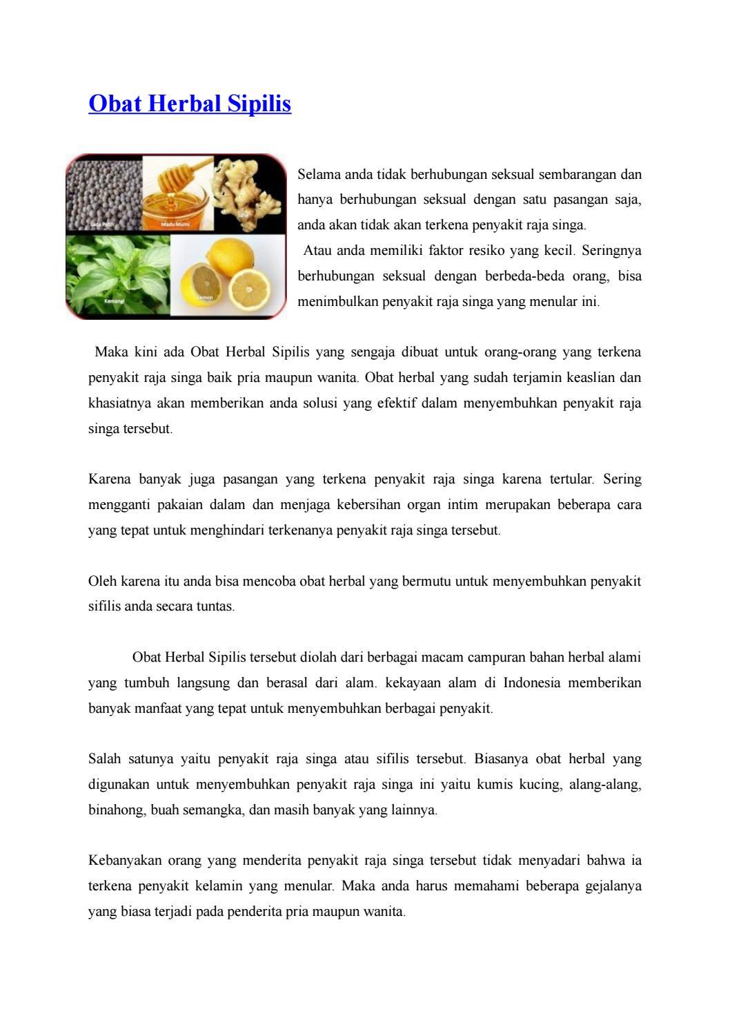 Obat Herbal Sipilis By Denature Indonesia Issuu Sakit Go Gonore Raja Singa Isk