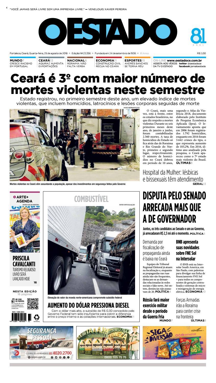 86ba2bd3acc51 29 08 2018 - Edição 23356 by Jornal O Estado (Ceará) - issuu