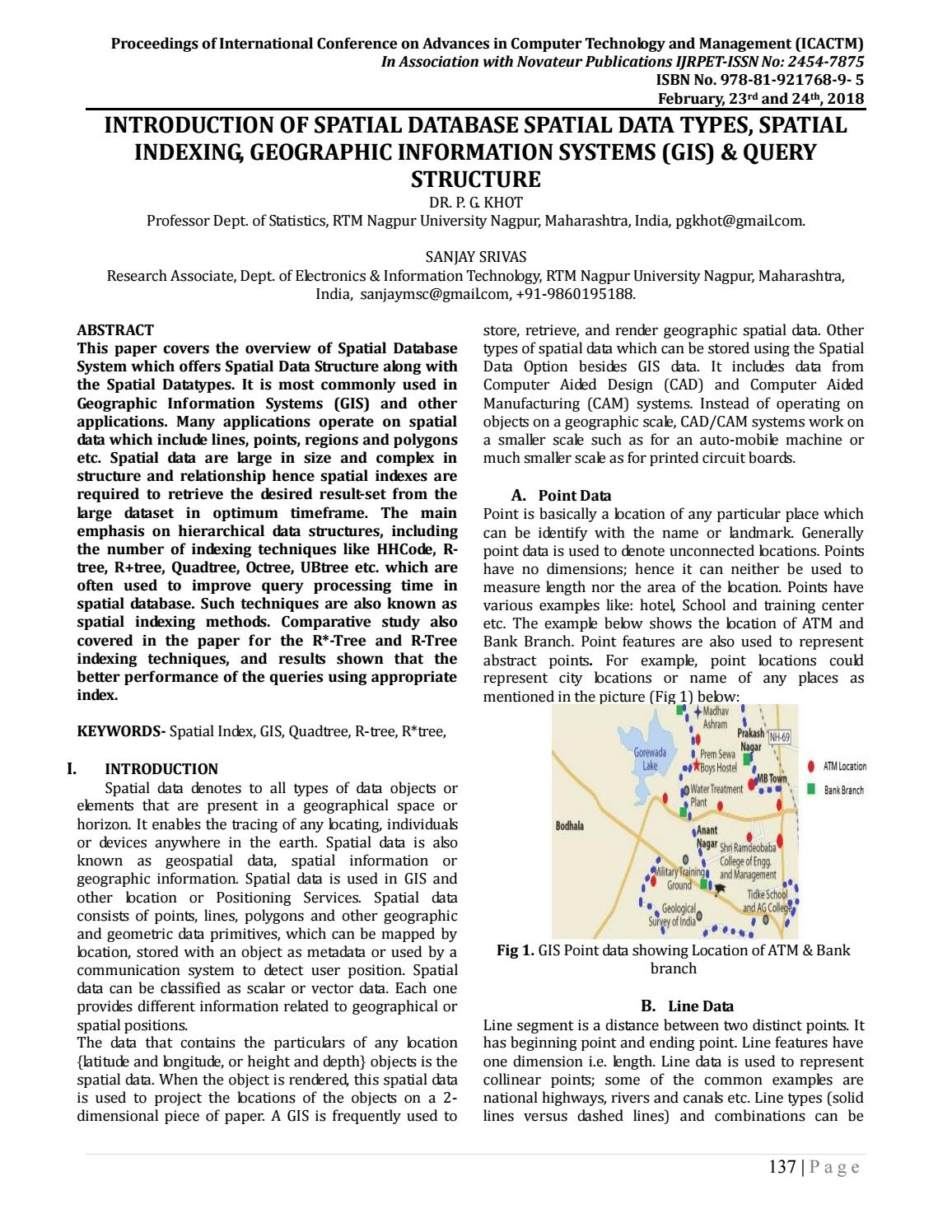 INTRODUCTION OF SPATIAL DATABASE SPATIAL DATA TYPES, SPATIAL