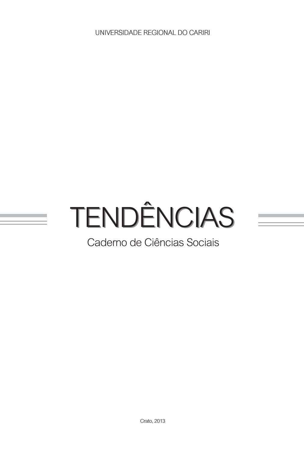 Tendências - Caderno de Ciências Sociais - n  07 2013 by