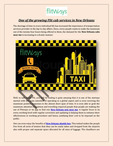 New Orleans cabs near me by flitways - issuu