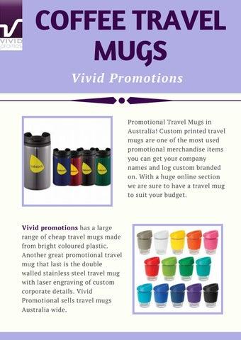 Stylish Promotional Coffee Travel Mugs | Vivid Promotions