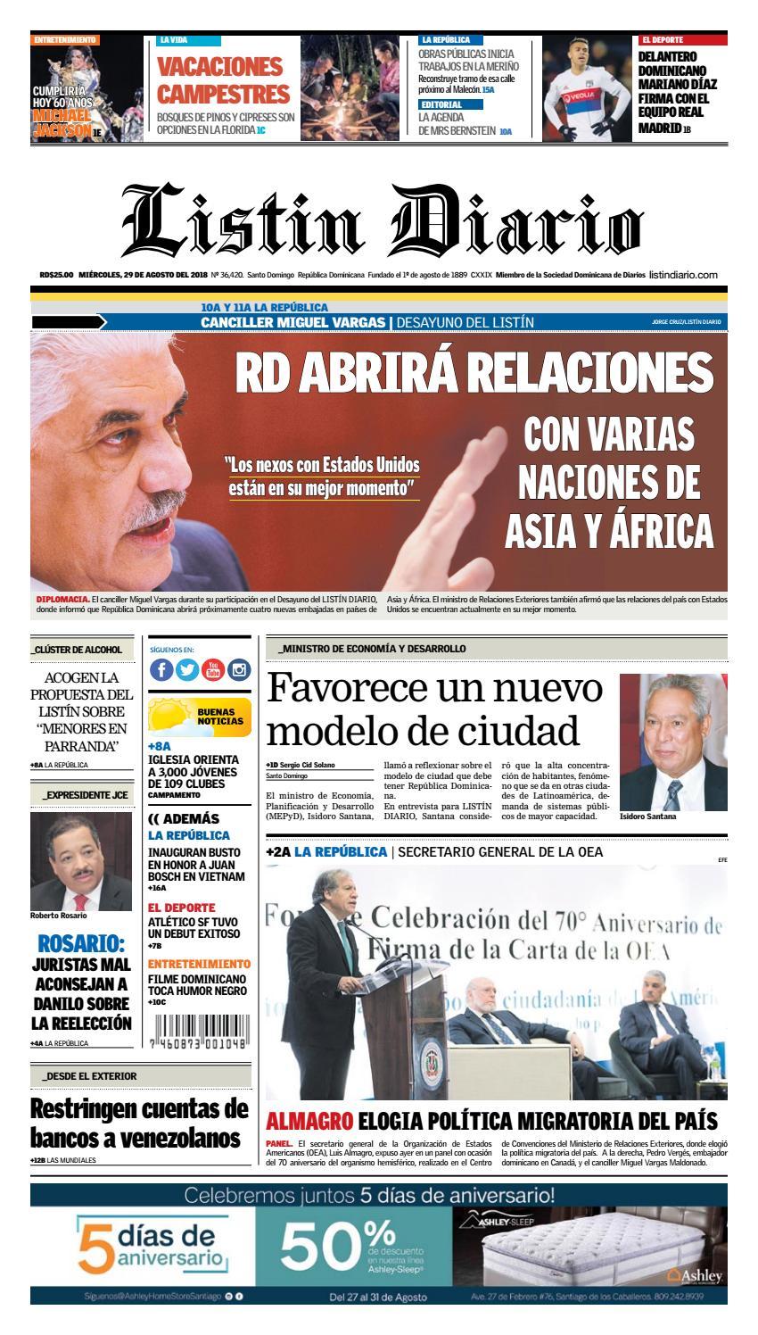 LD 29-08-2018 by Listín Diario - issuu dd19d3cbd8f9d