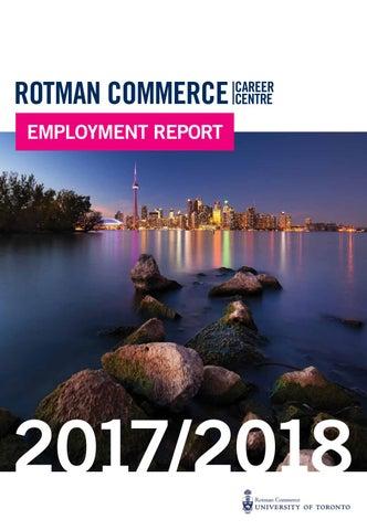 Rotman Commerce 2017/18 Employment Report by Rotman Commerce
