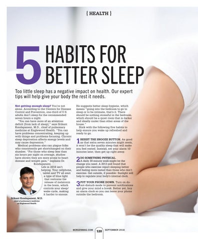 Page 124 of 5 Habits For Better Sleep