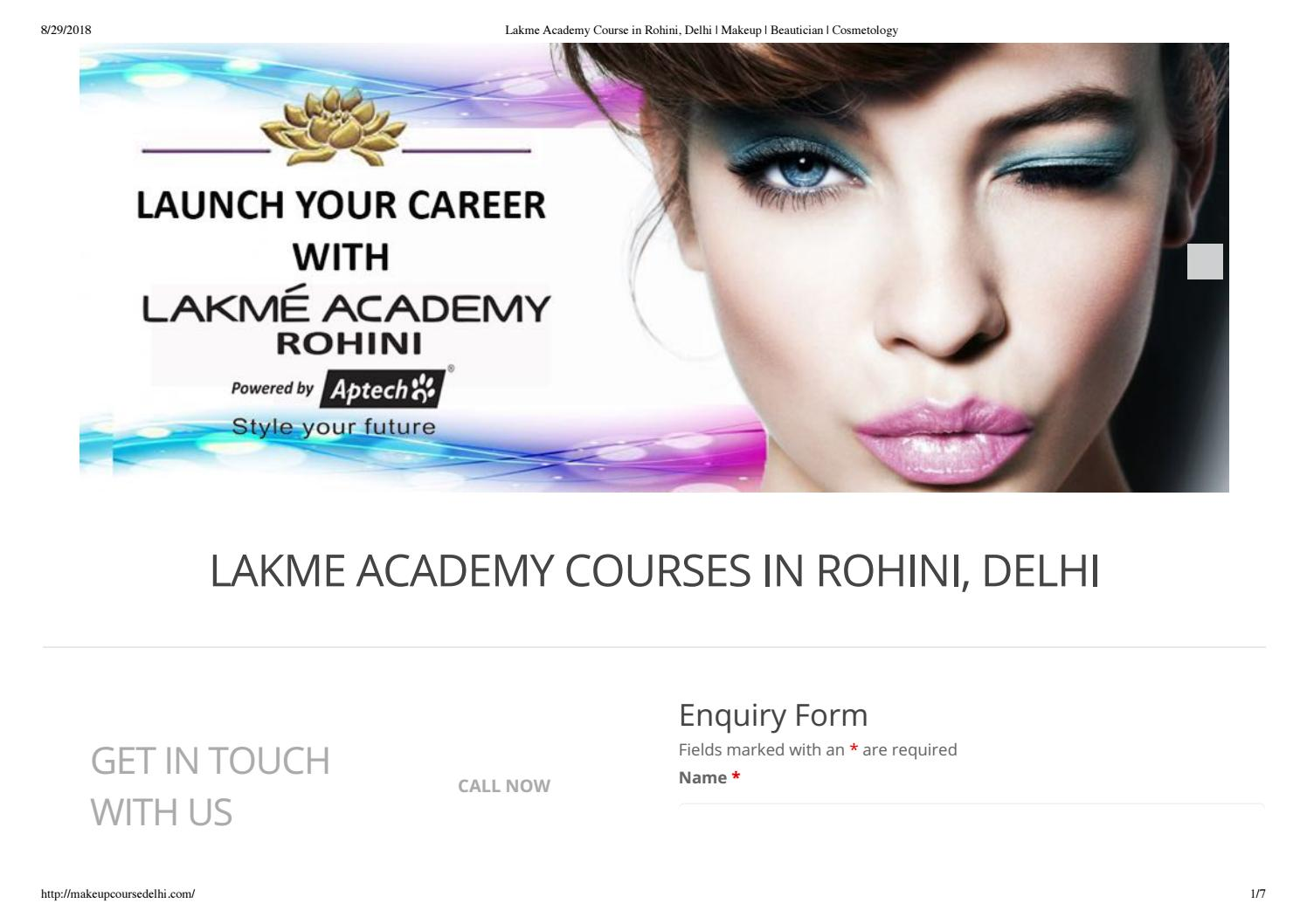 Lakme Academy Course in Rohini, Delhi by sakshi ahuja - issuu
