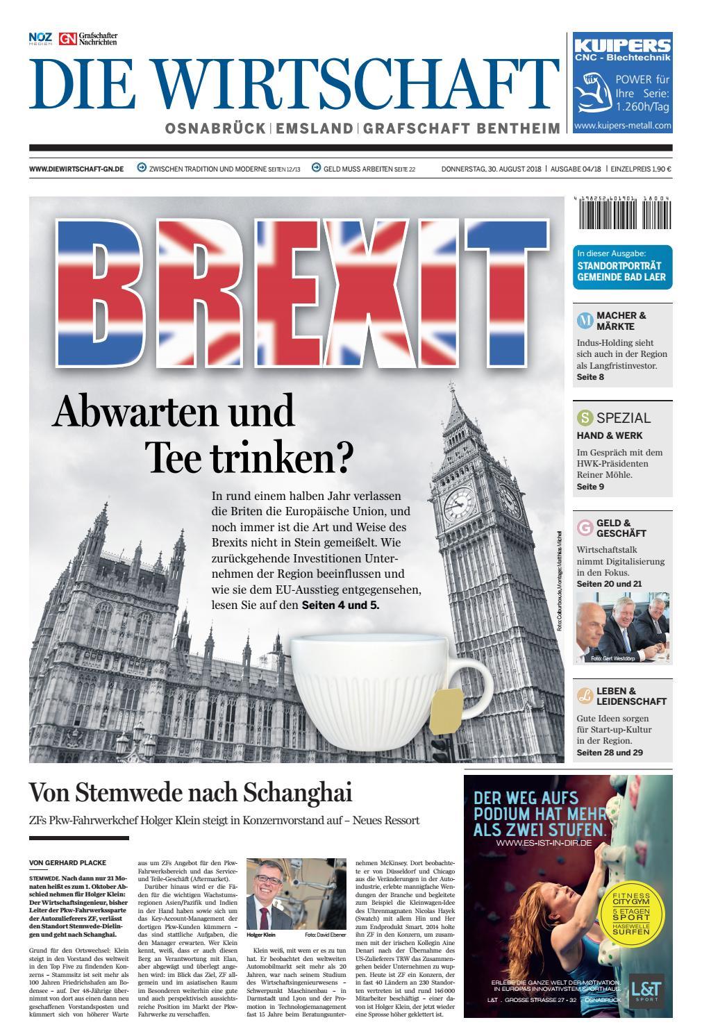 Die Wirtschaft September 2018 by Grafschafter Nachrichten - issuu