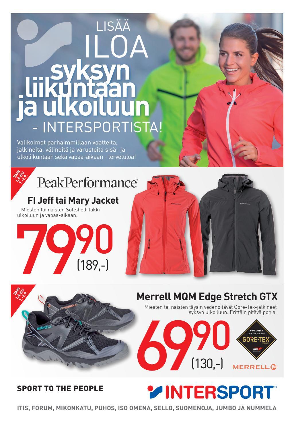 Pääkaupunkiseudun Intersportien valikoimaa ja huipputarjouksia syksyn  liikuntaan ja ulkoiluun! by Intersport Finland - issuu afd8bd1dbc