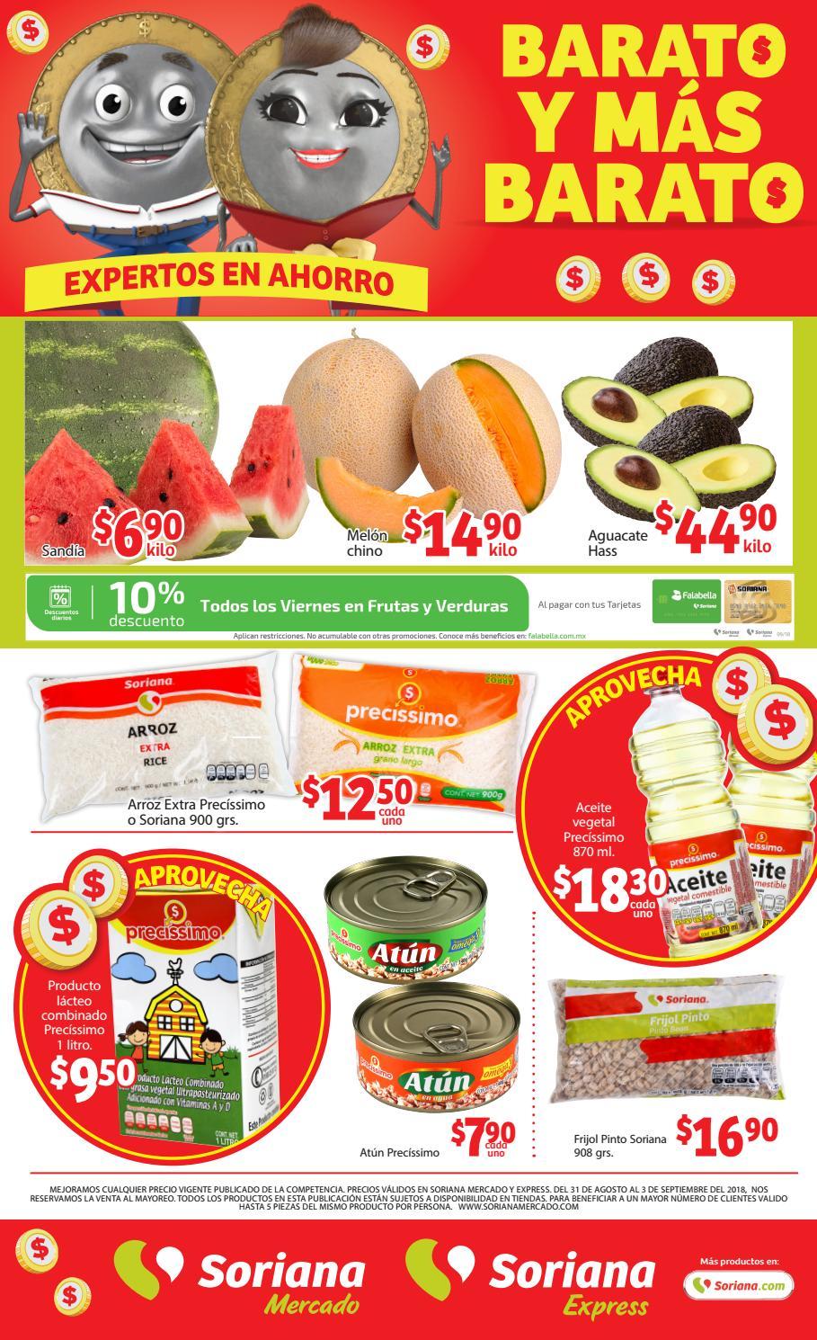 7de9c853a0 Folleto Soriana Mercado 31 de Ago. al 03 de Septiembre by Tienda Soriana -  issuu