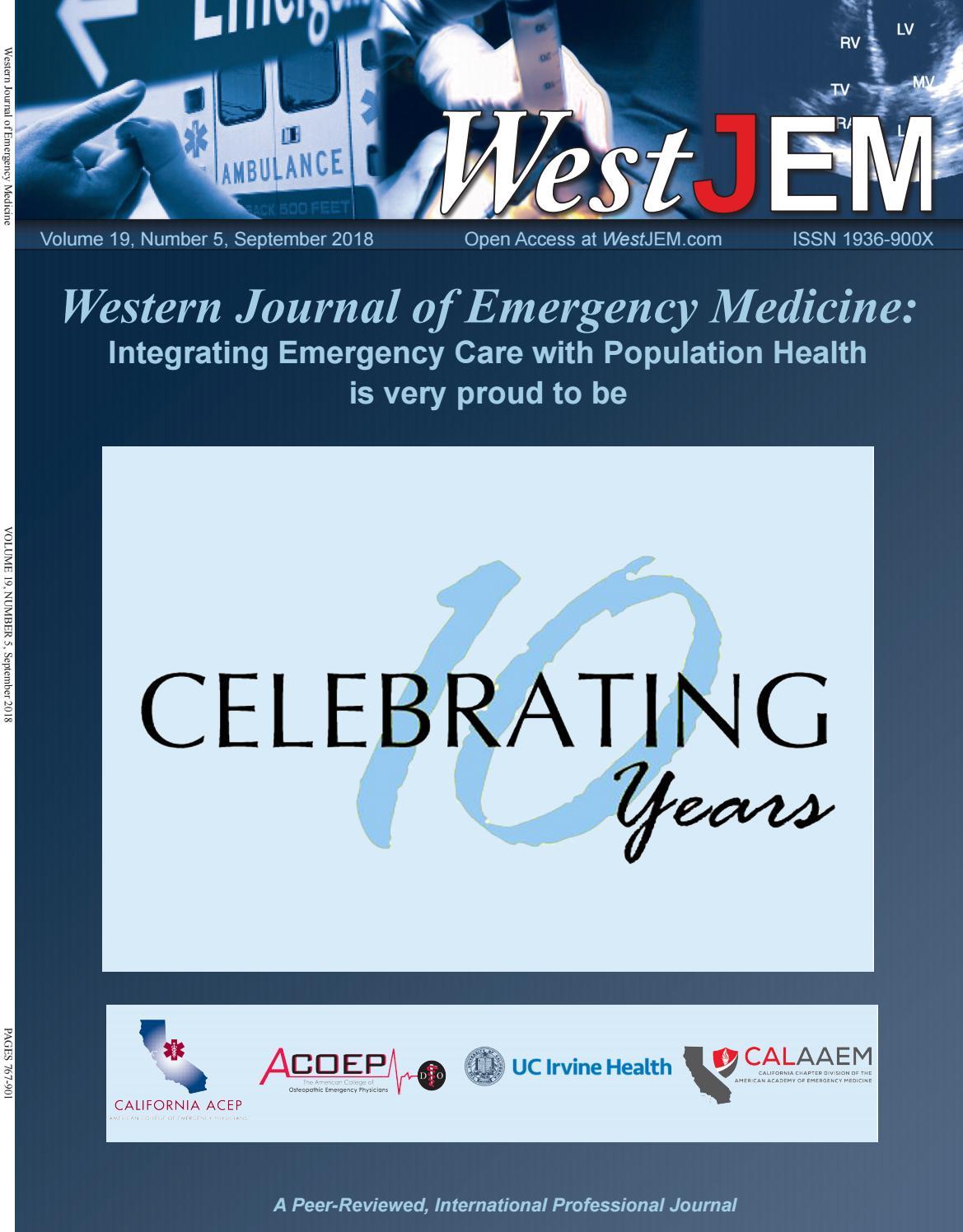 Volume 19 Issue 5 By Western Journal Of Emergency Medicine Issuu E Voucher 7 Eleven 711 Rp 10000