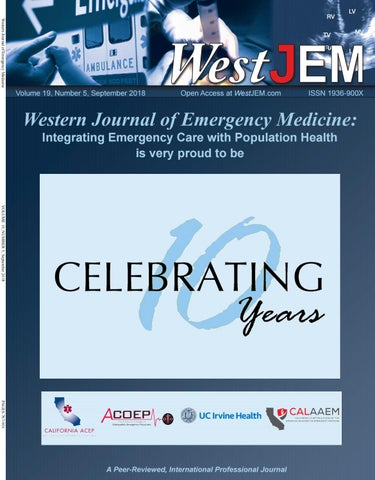 Volume 19, Issue 5 by Western Journal of Emergency Medicine - issuu