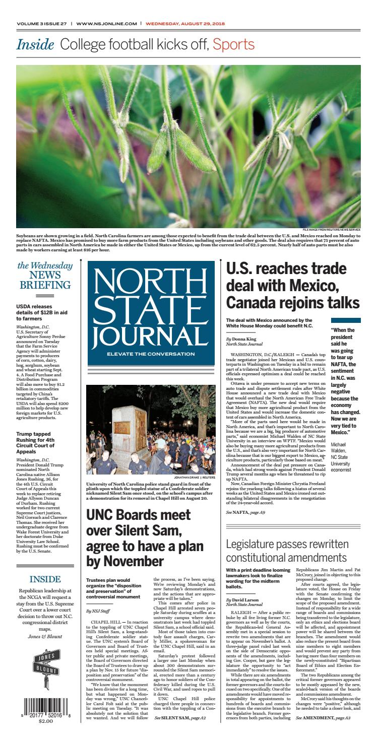 North State Journal - Vol 3 Issue 27 by North State Journal