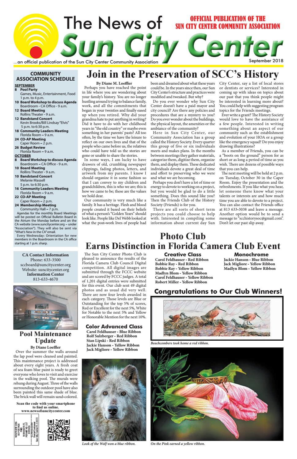 83d3864c7b00 News of Sun City Center September 2018 by The News of Sun City Center &  South County - issuu