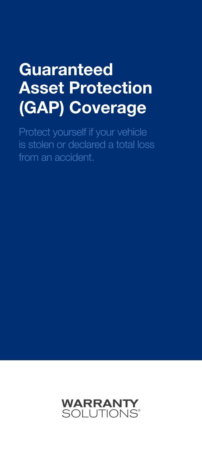GAP Brochure GAP Plus by Warranty Solutions - Issuu