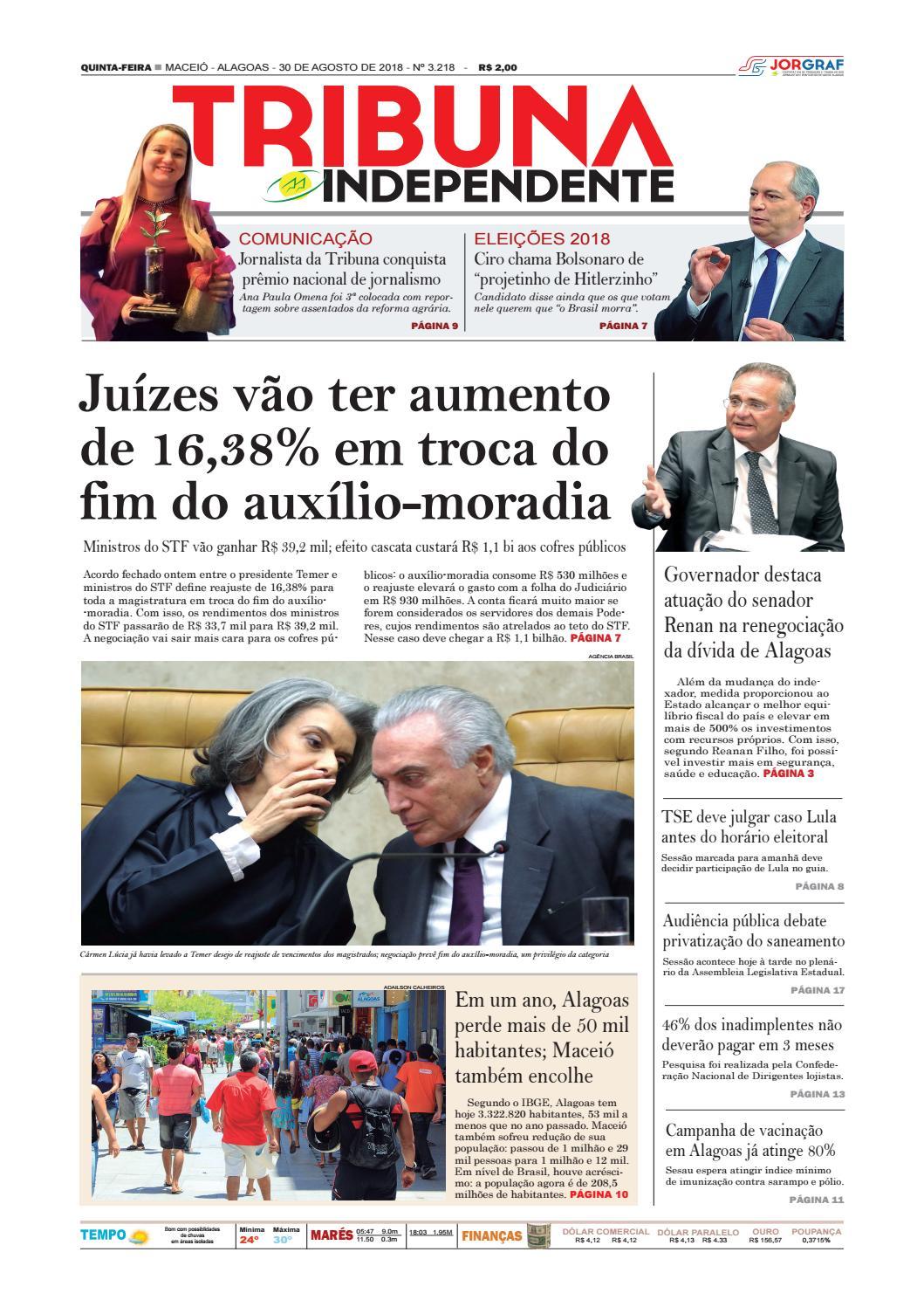 4fcf3bfb9a Edição número 3218 - 30 de agosto de 2018 by Tribuna Hoje - issuu