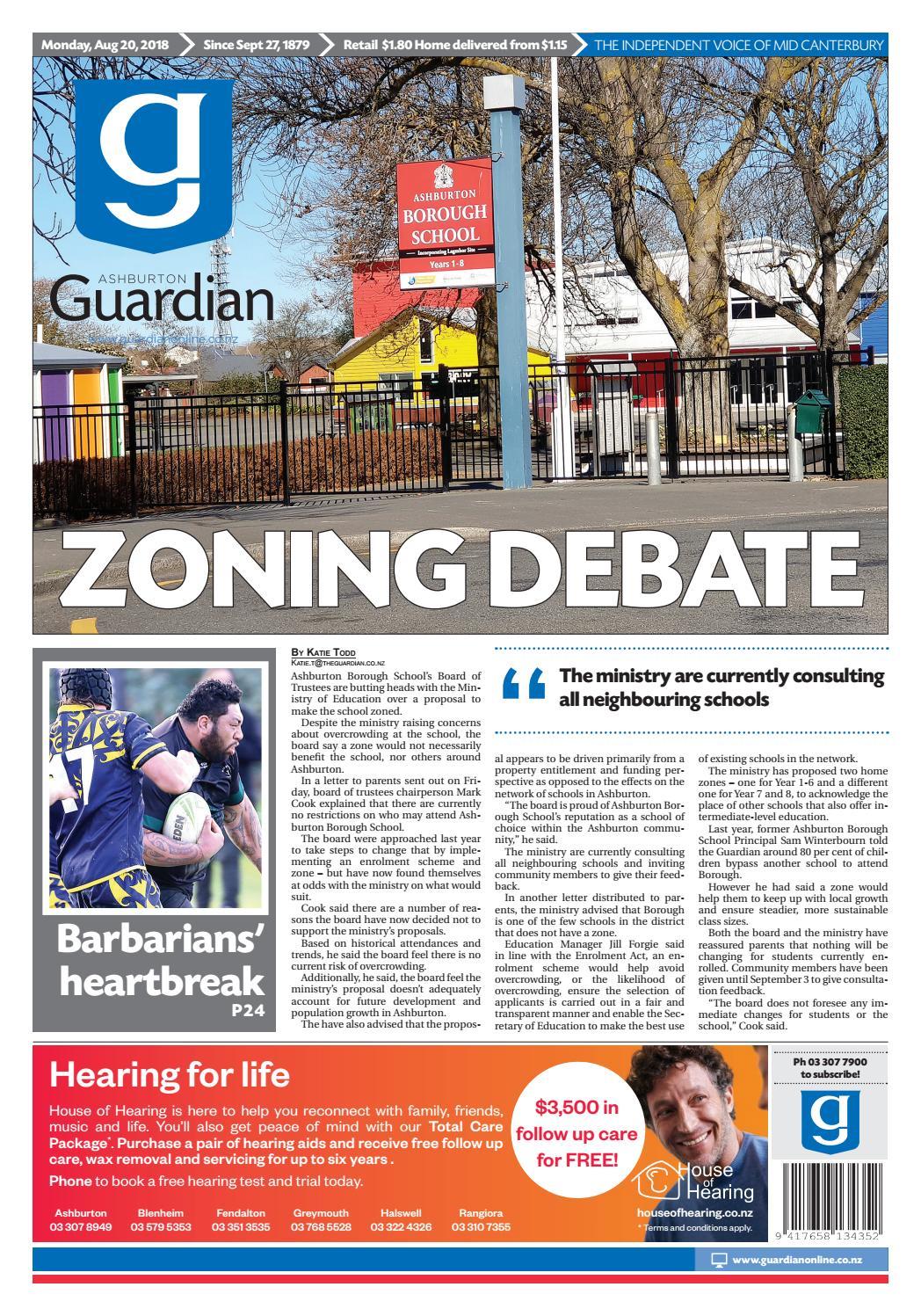 Ashburton Guardian, Monday, August 20, ...
