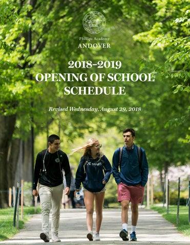 2018–2019 Opening of School Calendar by Phillips Academy - issuu